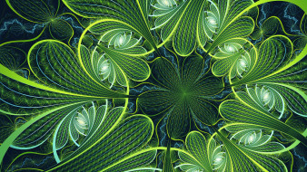 3д графика, фракталы , fractal, узор