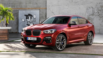 red, 2019, M40d, X4, BMW