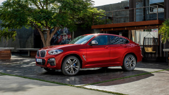 2019, red, M40d, X4, BMW