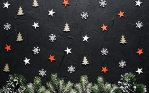 текстура, елки, новогодняя, ветки