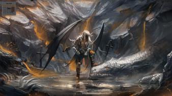 существо, 2018, крылья, дракон