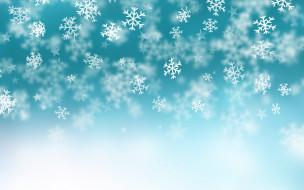 фон, снежинки