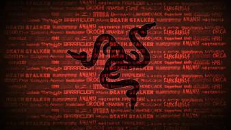 логотип, фон, Razer