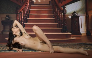 xxx, девушка, взгляд, фон, грудь, alyson, a, модель, красотка, голая