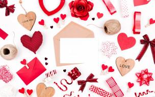 праздничные, день святого валентина,  сердечки,  любовь, hearts, любовь, сердечки, valentine's, day, романтика, red, decoration, gift, love, romantic