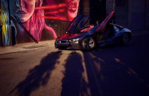 цвета, BMW i8, вид, машина