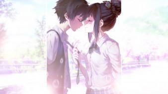 аниме, hyouka, романтика, двое