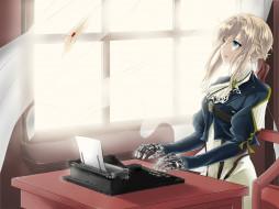 аниме, violet evergarden, письмо, девушка