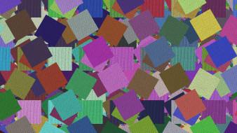 kwadraty, Tekstura, Kolorowe, Prostokaty