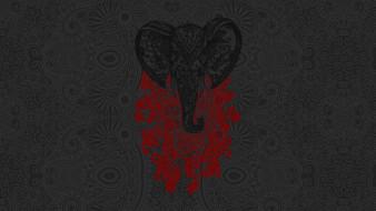 векторная графика, животные , animals, фон, слон
