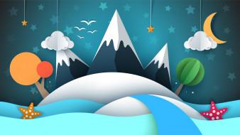 векторная графика, природа , nature, горы, природа, рисунок