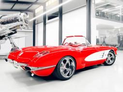 Racing, Pogea, Corvette, C1, 2012, красный, ангар, самолёт