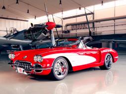 красный, 2012, C1, Corvette, Racing, Pogea, ангар, самолёт