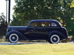 Plymouth, DeLuxe, Model-P2, Touring, Sedan, 1936, blue