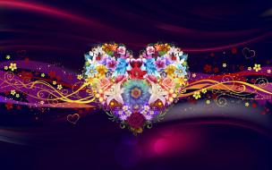 векторная графика, сердечки , hearts, фон, сердечко