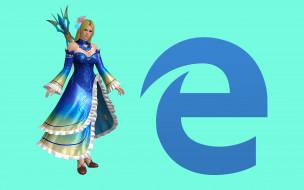 компьютеры, internet explorer, девушка, взгляд, фон, логотип