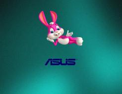 логотип, фон, кролик
