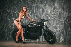 обои для рабочего стола 2449x1632 мотоциклы, мото с девушкой, красивая, девушка