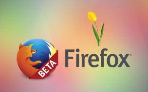 компьютеры, mozilla firefox, цветы, фон, лепестки, тюльпаны, логотип