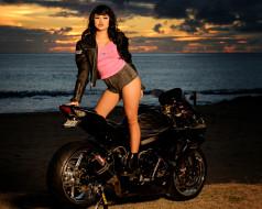 мотоциклы, мото с девушкой, kumiko