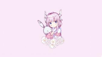 miss kobayashi`s dragon maid, аниме, девушка, взгляд, фон