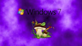компьютеры, windows 7 , vienna, логотип, фон