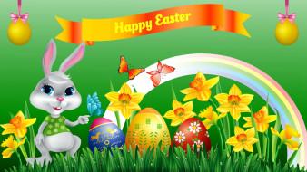 пасха, кролик, яйца