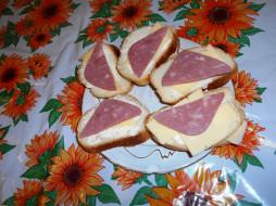 бутерброды, колбаса, еда, хлеб