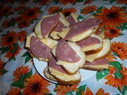 еда, бутерброды, колбаса, хлеб