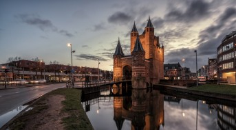 города, - пейзажи, нидерланды, голландия, haarlem