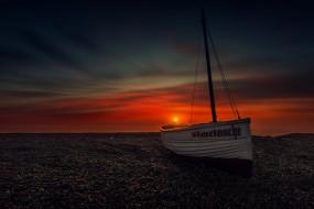 фотограф hmetosche, облака, солнце, лодка, небо