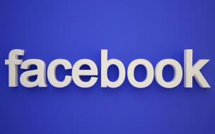 социальная сеть, facebook, объем, буквы, текст