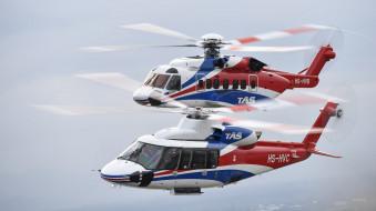 авиация, вертолёты, вертушка, tas, sikorsky, s76d, s92, thailand air services