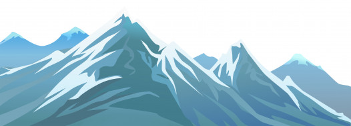 снег, горы