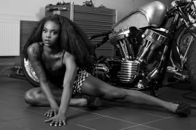 мотоциклы, мото с девушкой, harley