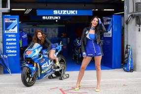 мотоциклы, мото с девушкой, suzuki