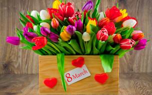 праздничные, международный женский день - 8 марта, день, 8, марта, цветы, международный, женский