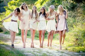 Девушки обои для рабочего стола 2048x1365 девушки, -unsort , группа девушек, улыбки, подруги, модели