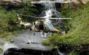 agusta a109 luh, авиация, вертолёты, military, helicopter, luh, a109, agusta, водопад, военный, вертолет, aviation