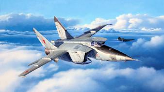 авиация, 3д, рисованые, v-graphic, окб, а, и, микояна, sr-71, 3-го, поколения, миг-25рбт, двухдвигательный, истребитель-перехватчик, советский, сверхзвуковой, высотный, самолёт, радиотехнической, разведки, бюро, , гуревича
