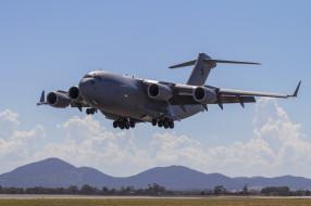 boeing c-17a globemaster iii, авиация, военно-транспортные самолёты, войсковой, транспорт