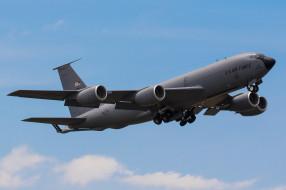 boeing kc-135r stratotanker, авиация, военно-транспортные самолёты, заправщик, танкер