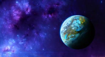 обои для рабочего стола 1989x1095 космос, арт, галактика, вселенная, планета, звезды