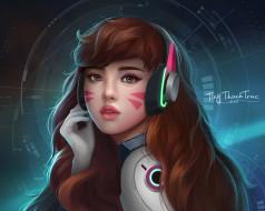 by TiNyThanhTruc, Дозор, арт, Overwatch, Ханна Сон