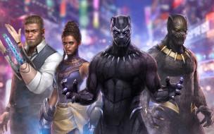 future, fight, marvel, black panther, artwork