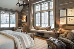 спальня, окно, кровать, кресло, дизайн