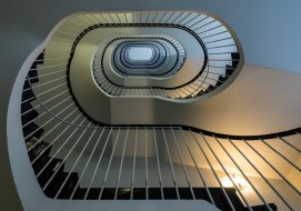 лестница, ограждение, перила, ступени