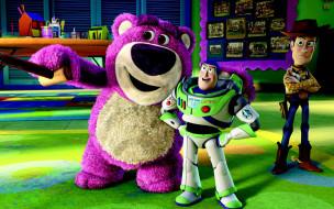 мультфильмы, toy story 3, игрушки, медведь, ковбой, астронавт