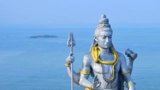 разное, религия, индия, статуя, шива, океан, мурудешвара