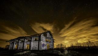 ночь, фон, дом